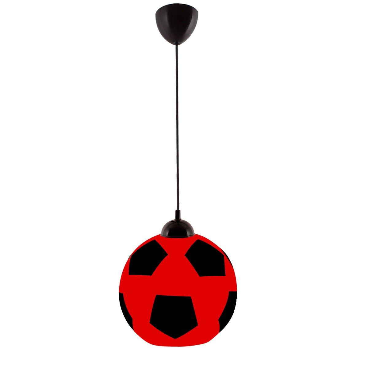 Atlanta soccer ball pendant high qaulity blown glass burgundy black by art win lighting amazon com