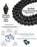Young & Forever Divine Spiritual Unisex Men, Women Lava Beads Chryscolla Beads Bracelet Healing Energy Stone Reiki Bracelet Gemstone Bracelet