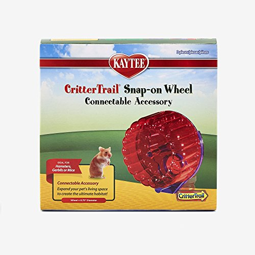 Kaytee-CritterTrail-Snap-On-Comfort-Wheel-Colors-Vary