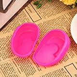 Hot Sale!DEESEE(TM)2PCS Blue Clear Silicone Ear Cover Hair Dye Shield Protect Salon Color (Pink)