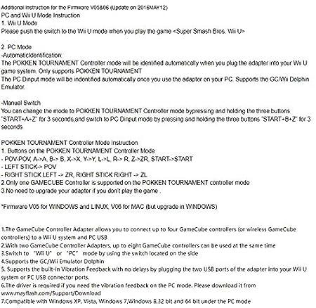 Amazon com: Mayflash GameCube Controller Adapter for Wii U