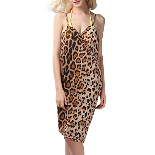 "Waooh - Fashion - Leopard Print Sarong "" Merienne "" - Braun - One Size"