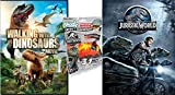 Dino Rad Movie & Toy pack Jurassic World DVD + Dinosaur Candy Dispenser with Walking with Dinosaurs Rule! Family Movie Bundle