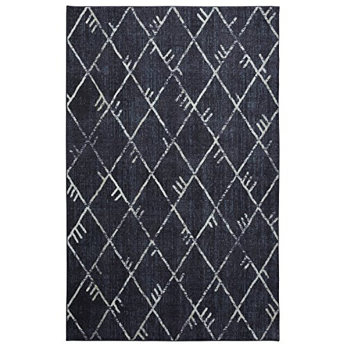 Mohawk Home Highland Precision Printed Prismatic Area Rug, 5'x8', Navy (A Highland Home)