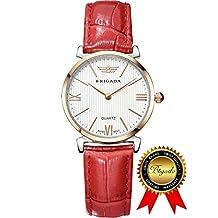 BRIGADA Swiss Watches for Women, Fashion Quartz Waterproof Ladies Watches for Girls Women