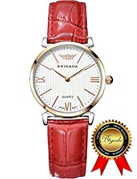 BRIGADA Swiss Watches for Women, Fashion Quartz Waterproof Ladies Watches for Girls Women
