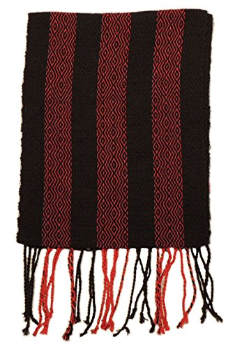 #4417 Hand Loomed Striped Alpaca Scarf Two Pack Assortment Artisan Peru Designer by Sanyork Fair Trade