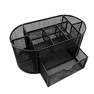 delicate Desktop Organizer,Anxinke Desk Caddy Desktop Organizer Design for Space Saving Suitable for Student Working Professional and Homemakers (Black)