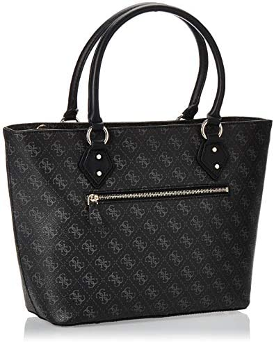 Guess Jensen Society Tote, Sacoches Femme, Coal, Taille unique