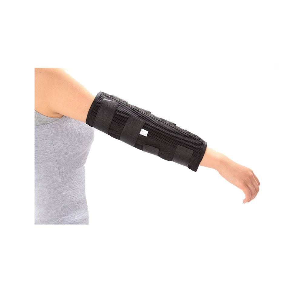 Elbow Splint Brace Arm Immobilizer for Fracture Stabilizer, Cubital Tunnel, Ulnar, Injuries, PM Night Protector Support Sleeve (L) by Mybow
