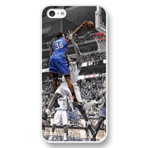 Onelee (TM) - Customized Personalized White Hard Plastic iPhone 5C Case, NBA Superstar Oklahoma City Thunder Kevin Durant iPhone 5C case, Only Fit iPhone 5C Case