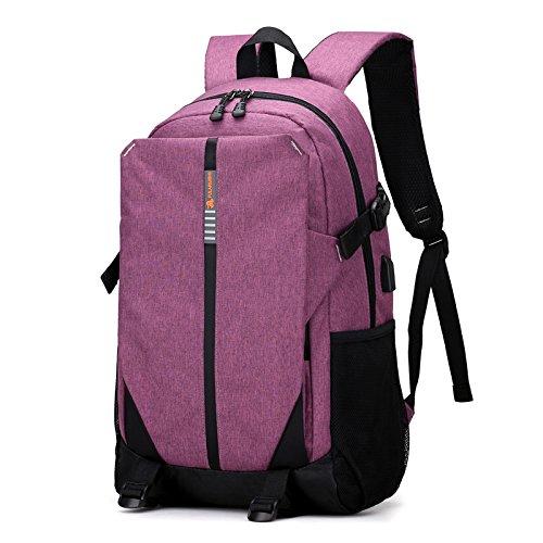 Meoaeo Koreanische Version Von Multifunktionalen Computer Tasche Travel Bag Student Freizeitaktivitäten Mauve bKs7Unc