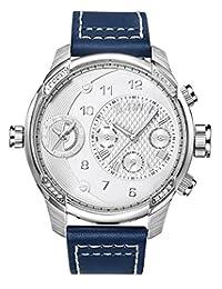 JBW G3 J6325A Men's Wrist Watches, Silver Dial, Blue Band