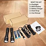 HECLOUD 2packs Scuba Diving Flashlight Dive Torch