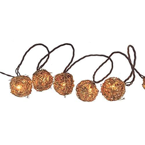 Outdoor Rattan Ball Lights in US - 5