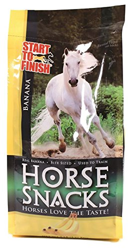 Manna Pro Start To Finish Horse Snacks, 5 Pounds, Made With Real Bananas