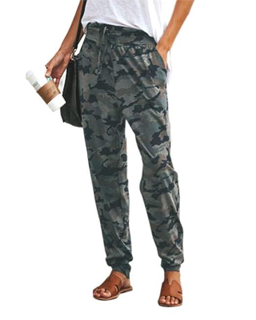 Mujer Flacas Camuflaje Slim Fit Pantalones Suelto Y Transpirable ...