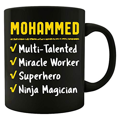 MOHAMMED Talented Superhero Ninja Miracle Worker Name Pride Funny Saying Gift - Mug (Super Best Friends Mohammed)