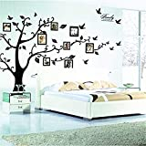 family room design zhiyu&art decor MT Family Tree Photo Frame Decals Removable Painting Supplies & Wall Treatments Stickers for Living Room Bedroom