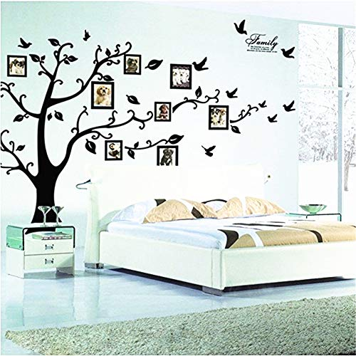 Large Family Tree Wall Decal Removable Photo Frame Tree Wall Decor Picture Frames Tree Wall Stickers for Living Room Wall Decor