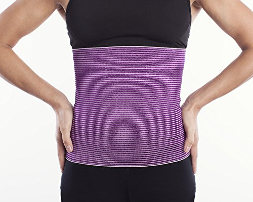 SG-Training Fit #1 Compression Wool - Cotton Warming Belt - Relieves Back Pain - Supports Lumbar and Muscles - Optimal Compression - for Men and Women. (Purple, X-Small)