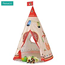 Pericross Children Indian Story Play Tent Indoor/Outdoor Teepee Indian Style Playhouse Perfect Gift for Any Child