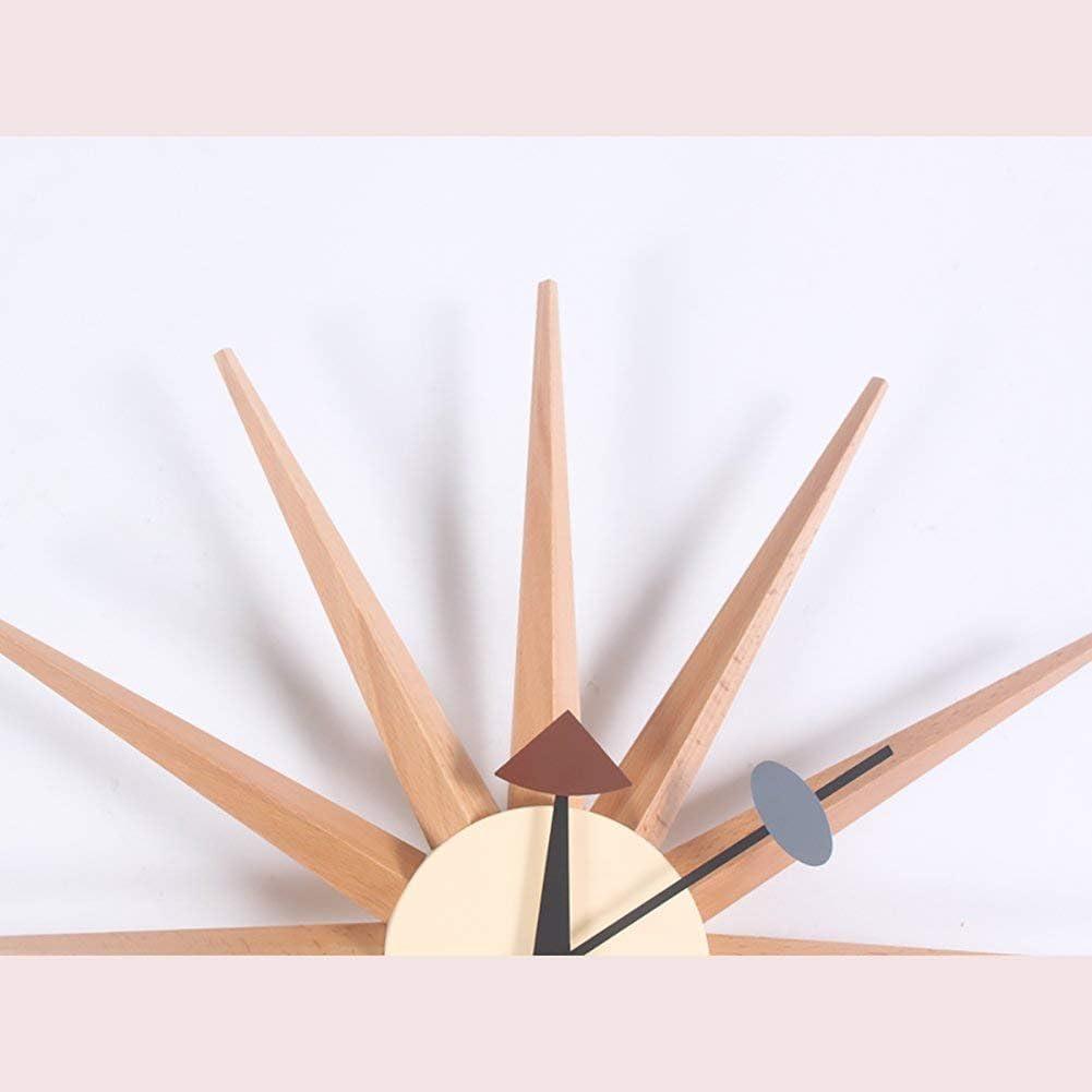 Dmygo Colgar de la pared del reloj del resplandor solar retro del estilo nórdico accesorios for el hogar de madera hecho a mano Nostálgico decoración del hogar (Color : Xf632m) Xf633m