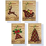 36 Christmas Cards with Envelopes by Gift Boutique