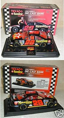 Texaco Havoline Racing Dale Jarrett Die-cast Bank 1995 Collector Series Texaco Havoline Racing