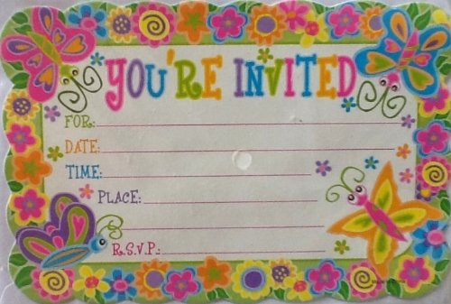 Any Occasion Party Invitations! You're Invited!! RSVP! 10 Cards & Envelopes!]()