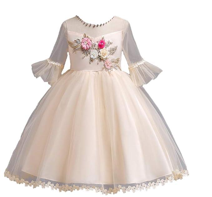GHTWJJ Niñas Vestidos De Noche Chica De Baile De Boda Vestido De Princesa Vestido De Fiesta