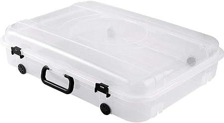 LHY SAVE Bajo La Cama Organizador con Rueda Plástico Bajo Cama Ruedas Caja De Almacenamiento para Ropa, Zapatos, Mantas, Suéteres, 61 * 45 * 13.5Cm,1 Pack: Amazon.es: Hogar