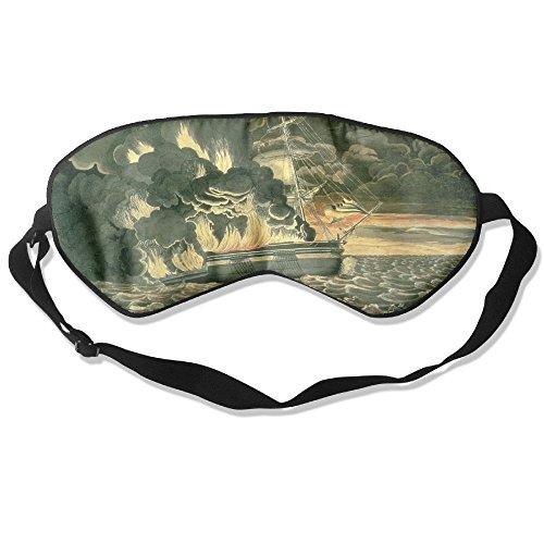 Sleep Mask Burning of Ship Eye Cover Blackout Eye Masks,Soothing Puffy Eyes,Dark Circles,Stress,Breathable Blindfold by MB32