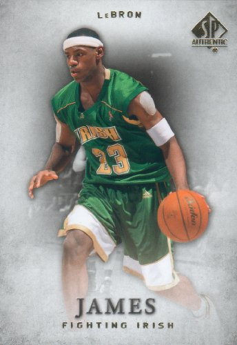 2012 2013 Lebron James Upper Deck SP Authentic Series Mint Basketball Card Picturing Him in His St. Vincent - St. Mary Fighting Irish High School Uniform 17 M (Mint)