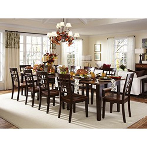 "A-America Bristol Point 132"" Rectangular Dining Table with (3) 24"" Leaves, Oak-Espresso"