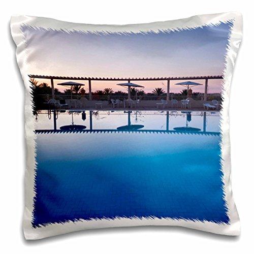 Danita Delimont - Hotels - Tunisia, Jerid Area, Tozeur, Hotel El Mouradi Pool-AF47 WBI0653 - Walter Bibikow - 16x16 inch Pillow Case (Hotel El Mouradi Pool)