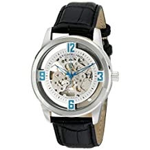 Stuhrling Original Men's 877.01 Winchester Automatic Self-Wind Skeleton Black Genuine Leather Strap Watch