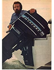 """Magazine Print Ad: Mercury Black Max 175 HP Outboard Motor,""""Meanest, toughest, most beautiful machine."""", 2 pages"""