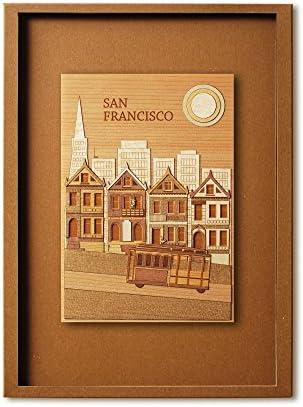 KINOWA 「サンフランシスコ」 木はり絵 オリジナル 手作り キット 世界の街並み 日本製