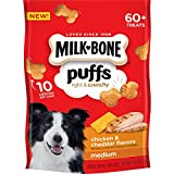 Milk-Bone Puffs Chicken and Cheddar Dog Treats, 8 oz (Pack of 4)