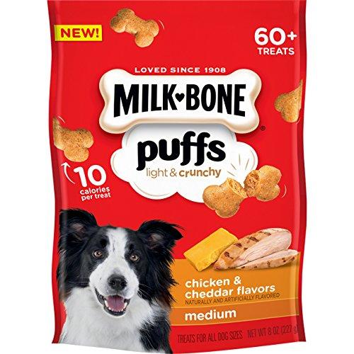 Milk-Bone Puffs Chicken and Cheddar Dog Treats, 8 oz ()