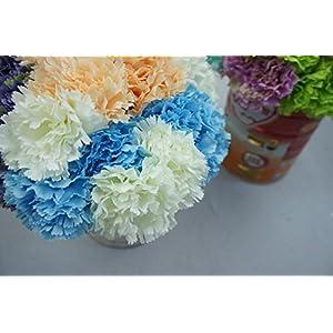 Lily Garden 12 Stems Artificial Carnation Flower Silk Bouquet (Peach) 5