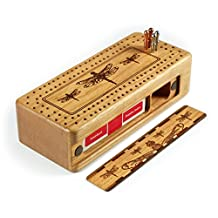 Dragonfly- Dragonflies Engraved Wooden Cribbage Board with Quality Metal Pegs