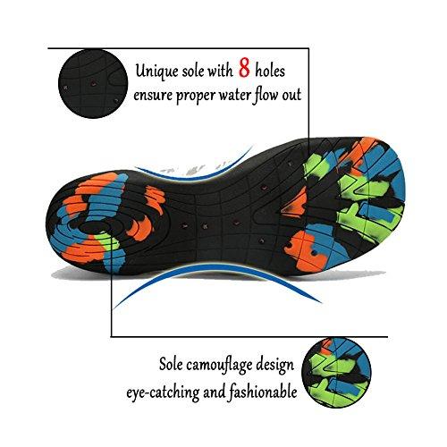 ASUGE Herren Damen Wasserschuhe Multifunktionale Quick-Dry Aqua Schuhe Leichte Schwimmschuhe Hausschuhe Grün