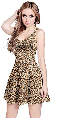 CowCow Womens Brown Leopard Pattern Seamless Repeating Animal Sleeve Dress, Brown - 5XL ()