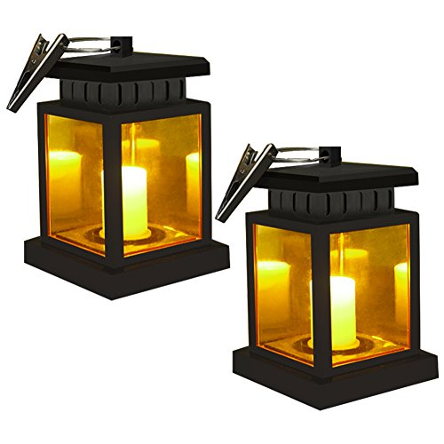 Style Portable Patio Light (Umbrella Light Solar Lanterns - Sunklly Hanging Outdoor Solar lights for Patio Vented Beach Umbrella ( Yellow Light, Pack of 2 ))