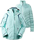 Obermeyer Women's Juno System Jacket Sea Glass 2 & E-tip Glove Bundle