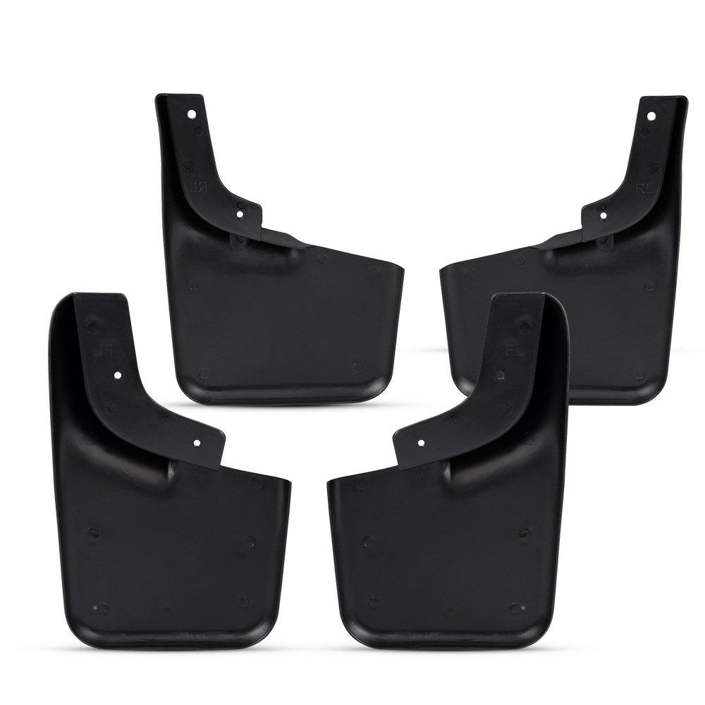 For 04-14 Ford F-150 4pcs Front Rear Splash Guard W// Wheel Lip Molding Mud Flaps
