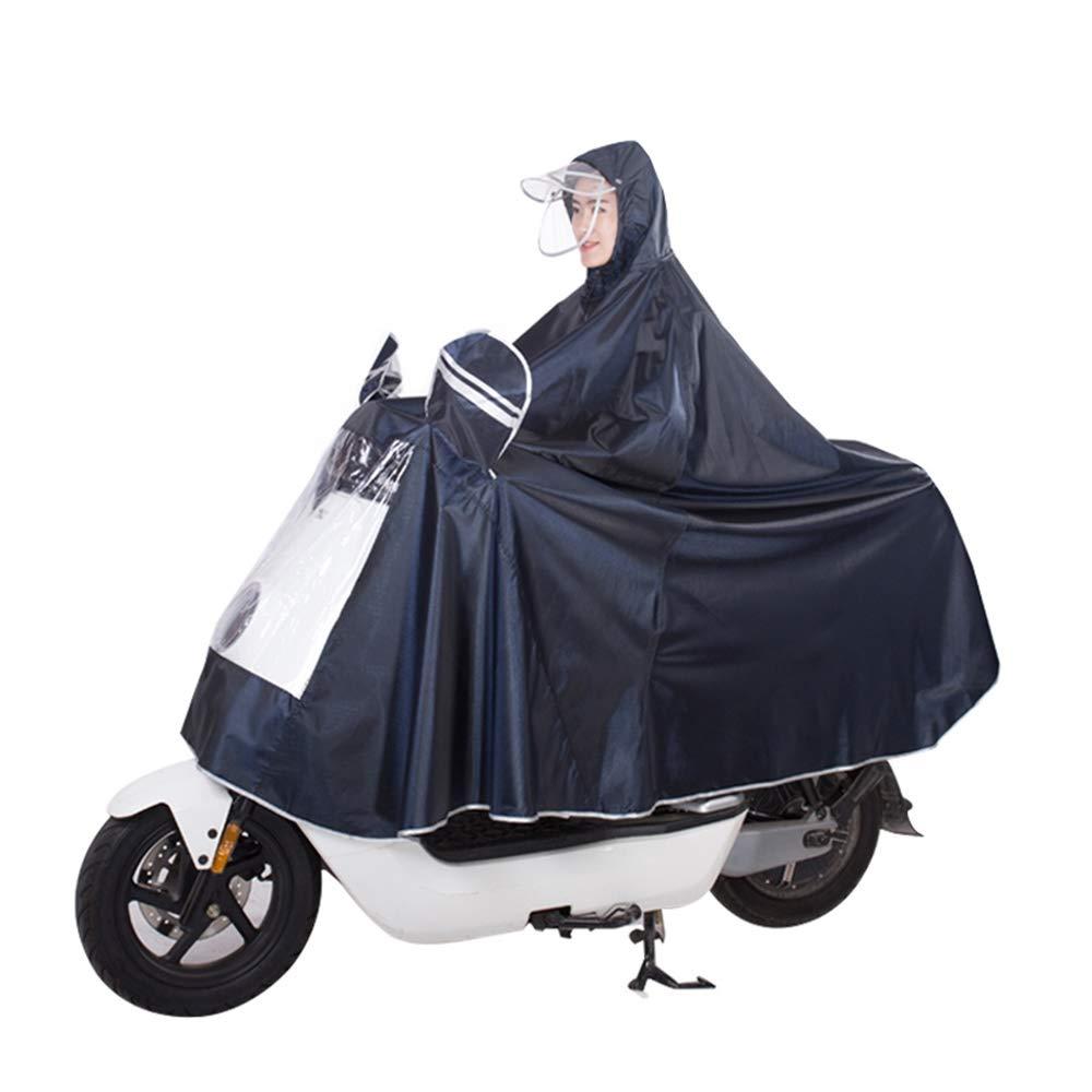 Geyao Impermeabile Auto elettrica Poncho Moto Aumento di Spessore Adulto Maschio e Femmina Impermeabile Singola Batteria Auto Impermeabile a Cavallo (Color : Blue, Dimensione : 5XL)