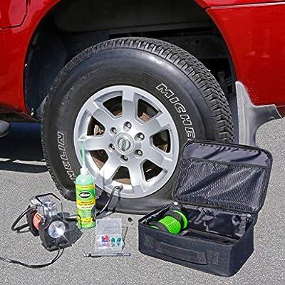 Slime 50063 Truck Spair Heavy Duty 12-Volt Inflator & Tire Repair Kit: Automotive